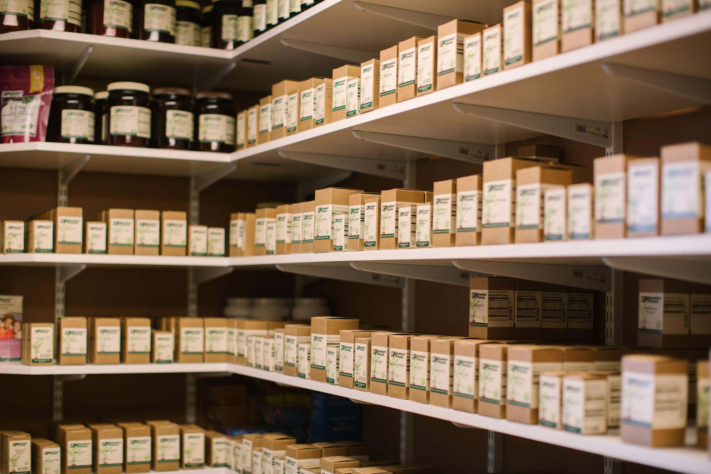 Standard process on shelves