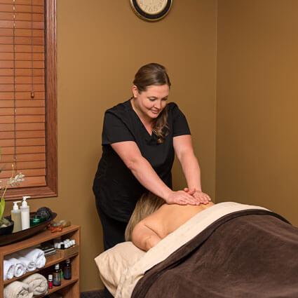Patient getting massage