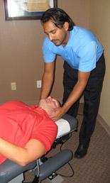Bee Cave Chiropractor adjusting a patient