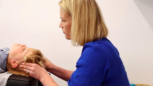 Dr Katie with patient