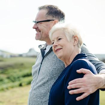 Couple enjoys ageing