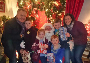 Dr. Brian McElroy & Family at Christmas