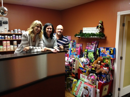 Toys Donation at Buzek Chiropractic Clinic