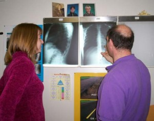We'll explain your x-rays if they were taken.