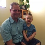 Dr. DiGiuseppe with one of our Chiro kids after a great adjustment.