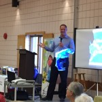 Dr. DiGiuseppe doing a talk at the 55 Plus Centre.