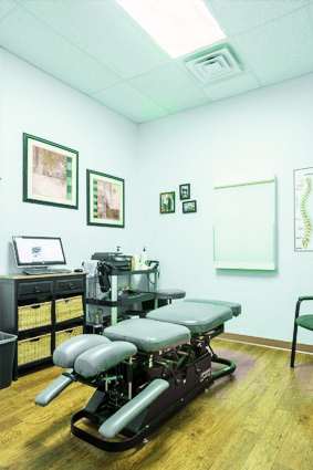 Adjusting room at Total Care Chiropractic