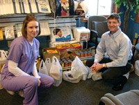 Columbia City chiropractor donating to Food Drive