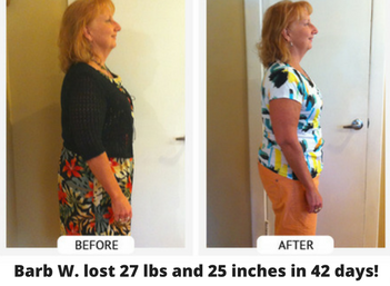 barb weight loss 27-lbs and 25-inches in 42-days