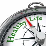 Healthy,Life,Indicated,By,Concept,Compass,On,White,Background