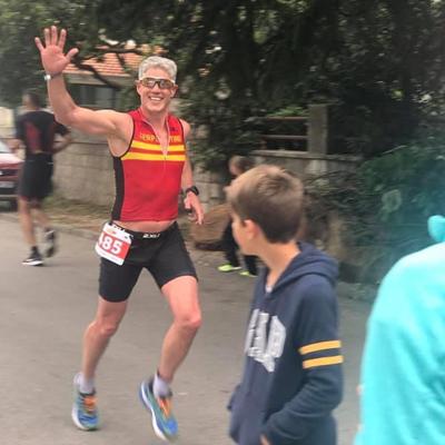 Dr. Reid running in a marathon