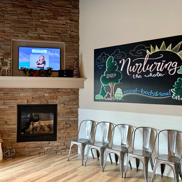 Welcoming waiting room at Beacon Hill Chiropractic and Massage