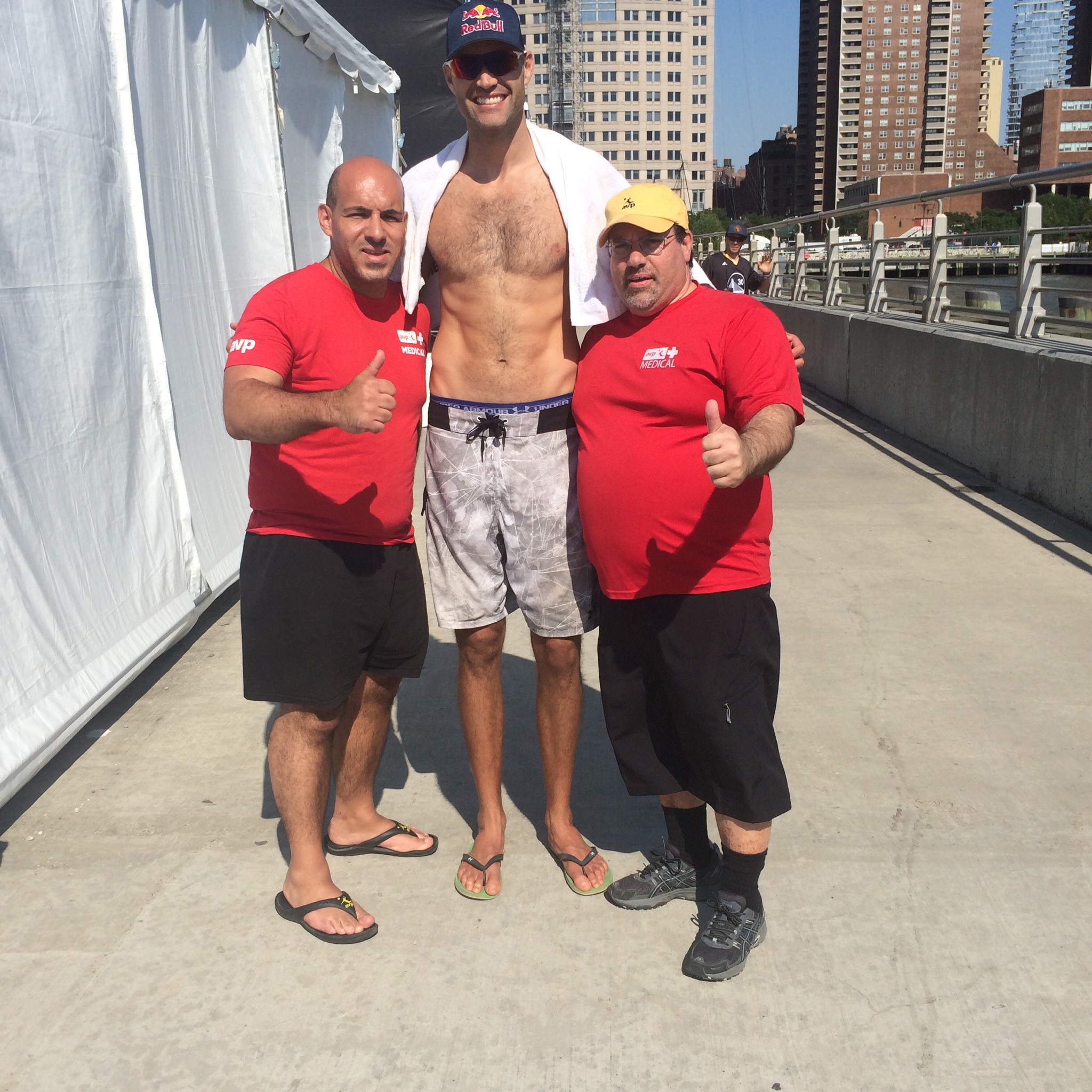 Dr. Baio with Dr. Bob Haley and this years New York winner Phil Dalhausser