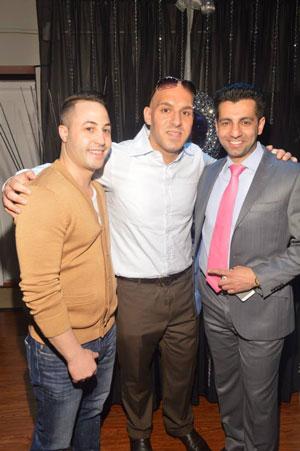 Gabe Poli, Dr. Baio and Babak Ermankhah at Azad watches NYC