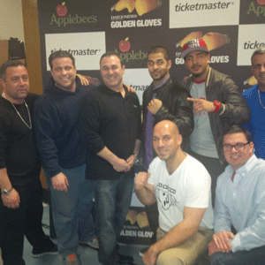 Dr. Baio along with fellow Knights and professional Boxers, Sadam Ali and Junior Younan at Golden Gloves