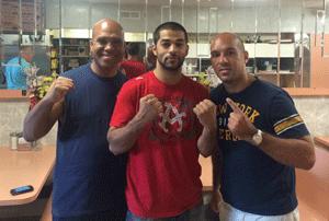 Dr. Pietro Baio with Sadam Ali and trainer Andre Rozier.