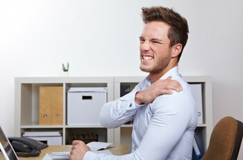 Sitting for too long can put stress on you neck and shoulders, resulting in headaches and tension.