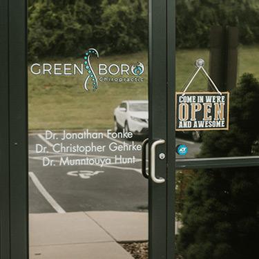Greensboro Chiropractic front door
