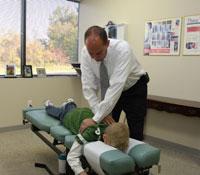 Dr. Davis adjusting techniques