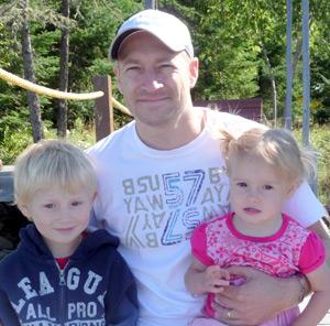 Embrun Chiropractor, Dr. Michael Koschade and his beautiful children!