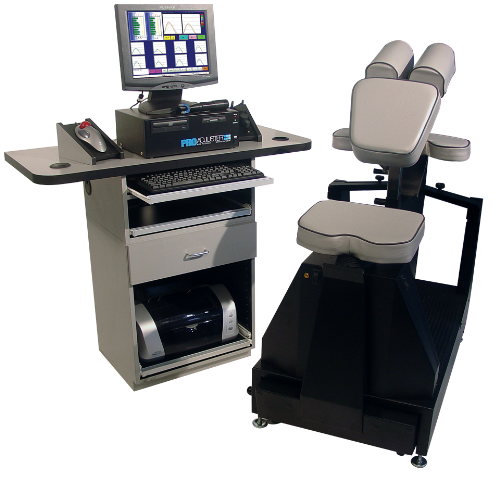 Pro Adjuster Chair and Workstation at Vezendy Chiropractic