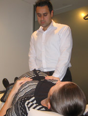 Dr Paul and Michelle (Pregnant in third trimester being adjusted)