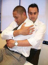 Paul adjusting a patient.