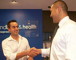 Paul greeting patient