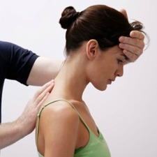woman being adjusted
