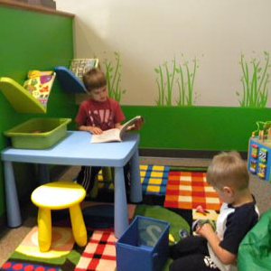 We have a fun and creative kids' area where children can play before and after they are seen by the doctor.