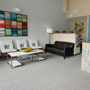 Reception room with couches and chairs