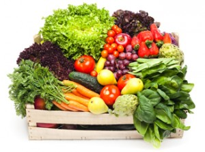 crate full of fresh veggies