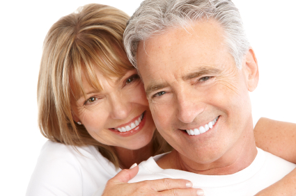 happy smiling healthy older couple