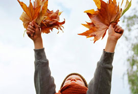 Holding leaves up the air