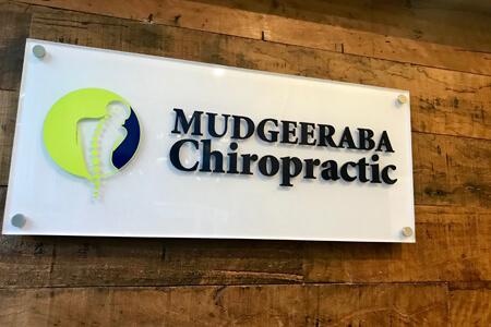Mudgeeraba Chiropractic sign in waiting room
