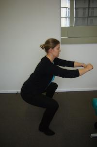 Body weight squat