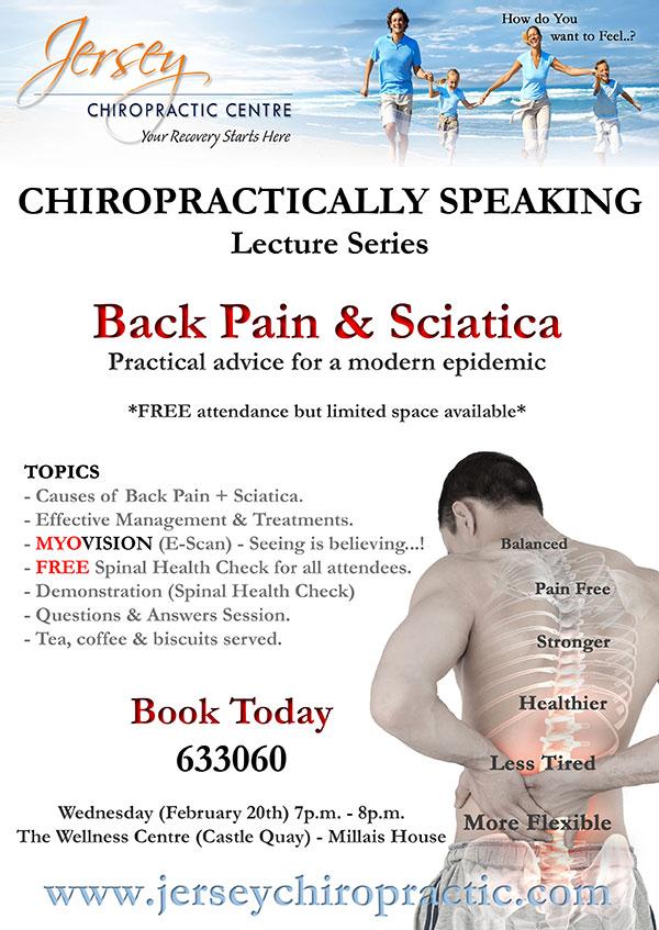 Back pain flyer