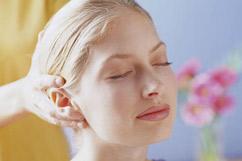 women receiving indian head massage