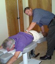 Arcadia Chiropractor Dr. Paul van Berkel performing Flexion Distraction Technique.