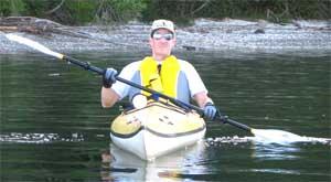 Dr. Calcara enjoy kayaking year round.