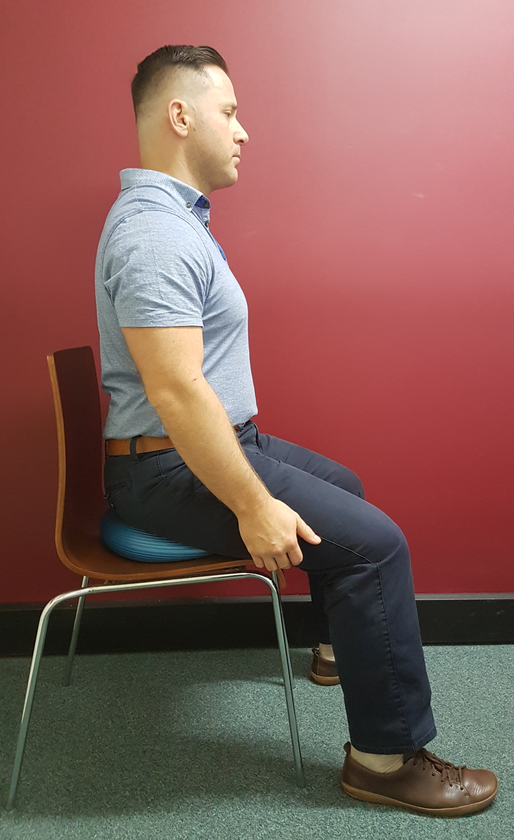 Dr B Sitting with Good Posture