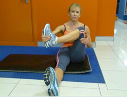 The lower back stretch for the buttocks and piriformis
