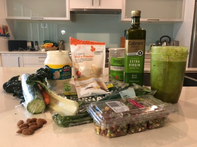 All you need to make Be Healthy Chiropractic's Healthy Green Smoothie