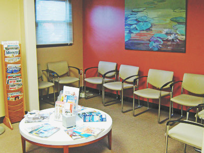 Spacious waiting area for the comfort of our patients.
