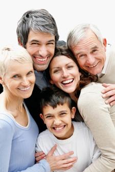 Photo of healthy family