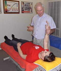 Dr Neal (Chiropractor) will repeat the tests done during your first visit.