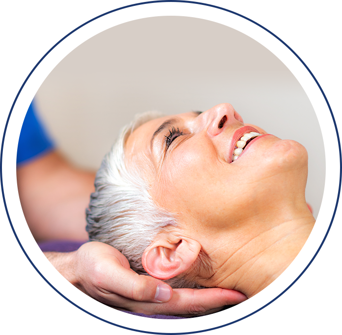 massaging neck