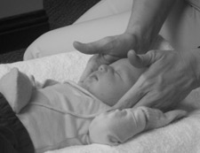 Montgomery Chiropractor adjusting a baby