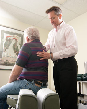 Temple Terrace Chiropractor adjusting a man