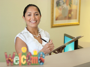 Front desk clerk at Major Family Chiropractic in Temple Terrace